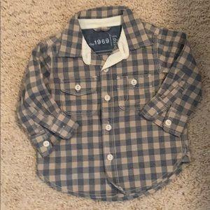 NWT plaid bottom down shirt for kids